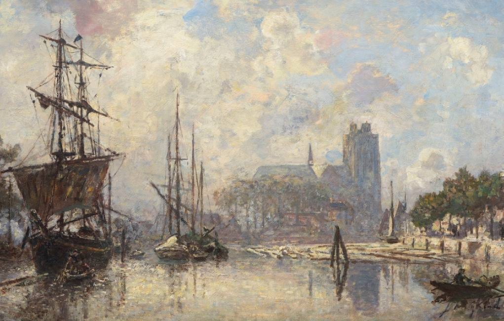 Dordrecht - Johan Barthold Jongkind, 1869 (Publiek Domein - Dordrechts Museum - wiki)