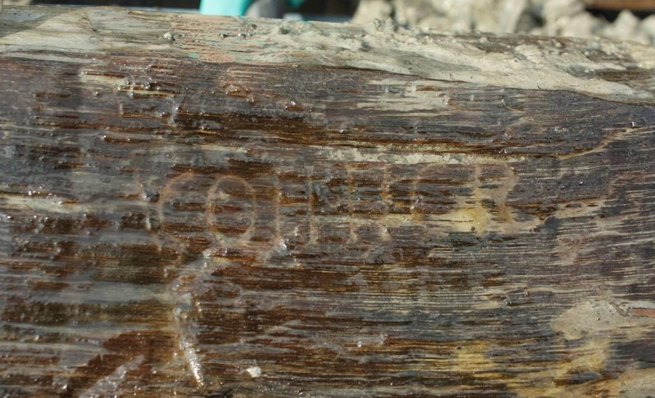 De Romeinse inscriptie (Foto: Provincie Zuid-Holland)