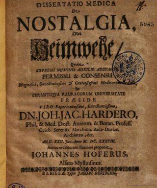 De dissertatie van Johannes Hofer (Google Books)