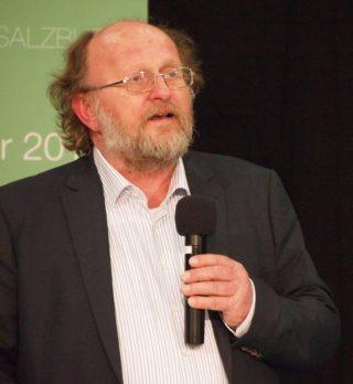 Klaus Schmidt tijdens de Monumentobeurs in Salzburg, 2014 (CC0 - wiki)