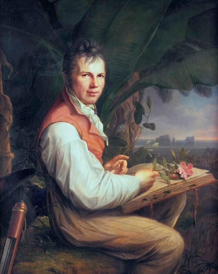 Alexander von Humboldt, portret door Friedrich Georg Weitsch uit 1806.