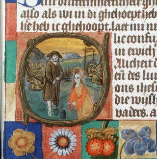 Christus als tuinman in een getijdenboek (Koninklijke Bibliotheek, Den Haag)