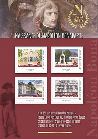 Postzegelvel ter gelegenheid van 250 jaar Napoleon (La Poste)