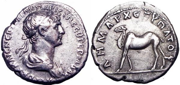 Trajanus en een kameel (© VCoins)