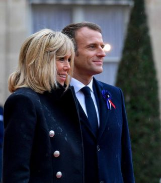 Emmanuel Macron met zijn echtgenote Brigitte (CC BY 4.0 - Адміністрація Президента України - wiki)