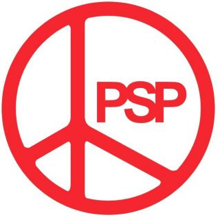Logo van de Pacifistisch Socialistische Partij (PSP)