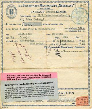 Tickets voor de overtocht (Collectie Janneke Budding)
