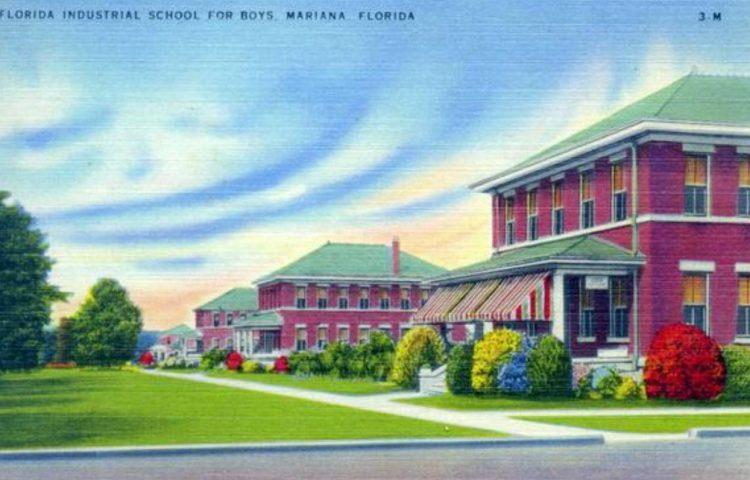 Florida School for Boys op een oude ansichtkaart (Publiek Domein - wiki)