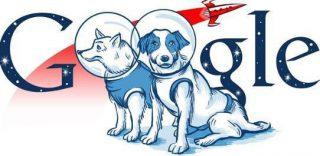 Google doodle ter ere van Belka en Strelka
