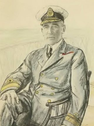 Portret van Reginald Tyrwhitt, gemaakt door Francis Dodd (Publiek Domein - wiki)