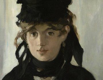 Berthe Morisot geportretteerd door Édouard Manet, 1870 - detail (Publiek Domein - wiki)