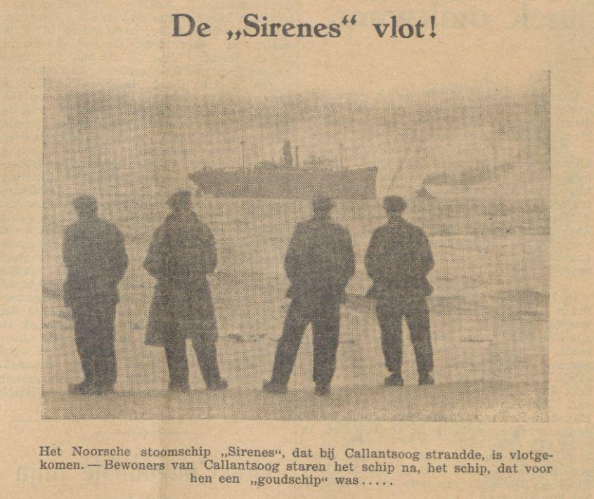 """De 'Sirenes' vlot!"" -  Sumatra post, 30 september 1936 (Delpher)"