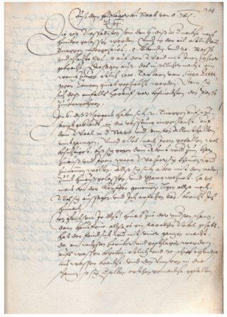 Handgeschreven Fugger-Zeitung, uitgegeven door Carl Fromme, 8 september 1594. Bron: De krant