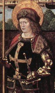 Gereon van Keulen, detail van het werk Maître de la Glorification de Marie, 1480 (Publiek Domein - wiki)