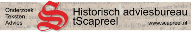 tScapreel is een historisch adviesbureau dat gespecialiseerd is in het verspreiden van kennis over het verleden