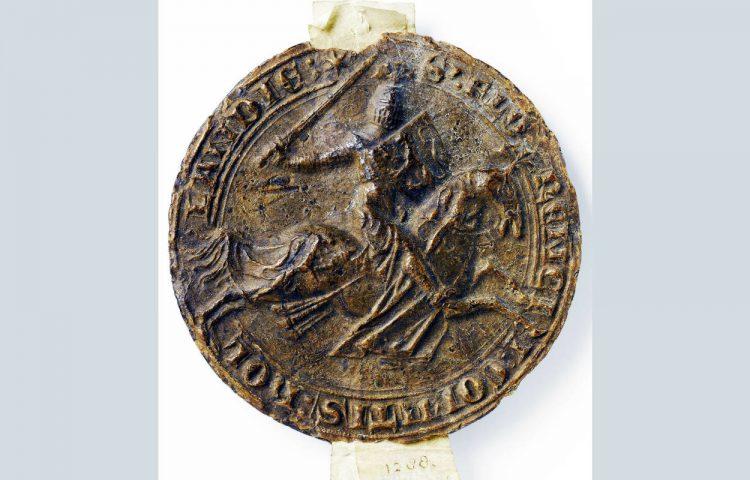 Zegel van graaf Floris V - anoniem, ca. 1266 - ca. 1296 (Rijksstudio)