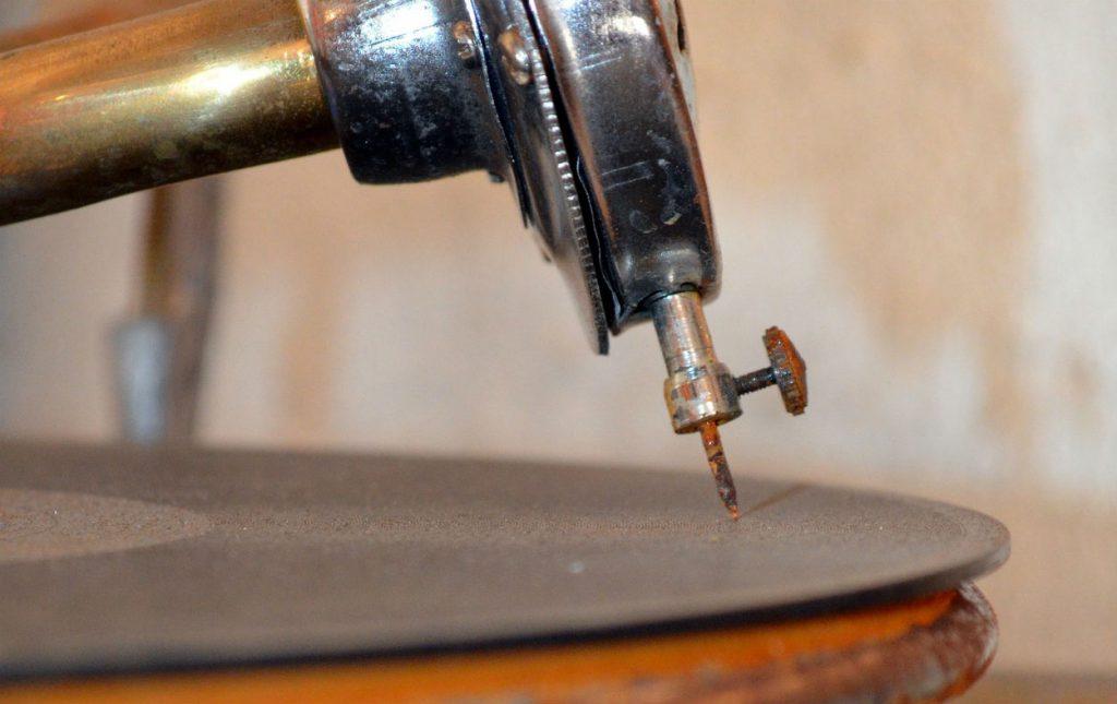 Oude grammofoonplaat