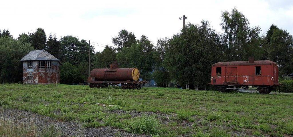 Vervallen treintoestellen bij Sourbrodt, 2019 (Foto Historiek)