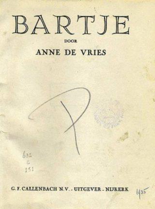 Uitgave van Bartje uit 1935 - DBNL