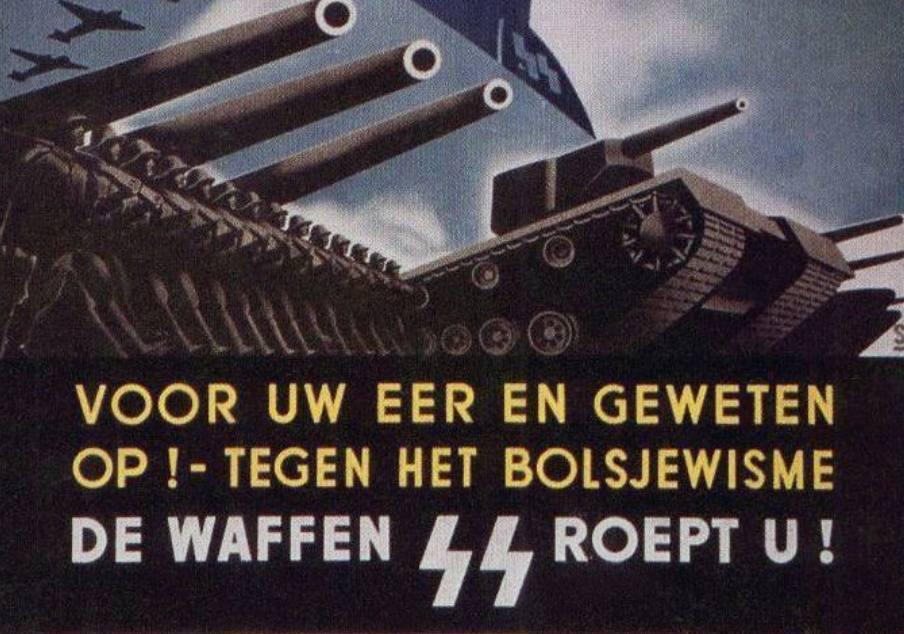 Fragment van een Nederlandse wervingsposter van de SS (Publiek Domein - wiki)