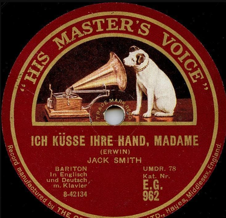 Afbeelding van Nipper op een langspeelplaat van 'His Master's Voice'