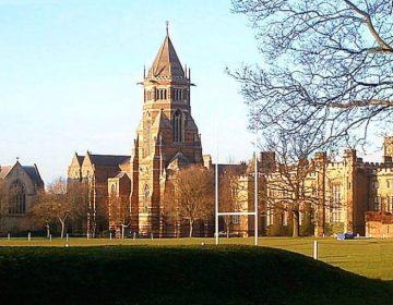 Rugby School, waar volgens de legende rugby is uitgevonden (Publiek Domein - wiki)