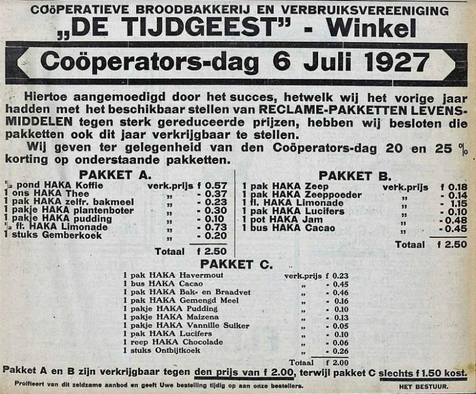 Uit de Schager Courant van 1927