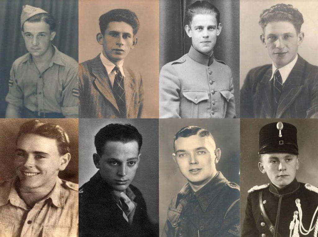 Acht portretfoto's van gesneuvelden (BHIC)