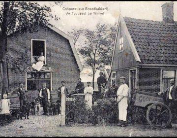 Coöperatieve broodbakkerij de Tijdgeest te winkel, 1910 (Regionaal Archief Alkmaar)