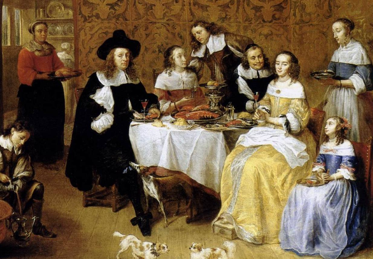 Zeventiende-eeuws familieportret - Gillis van Tilborgh