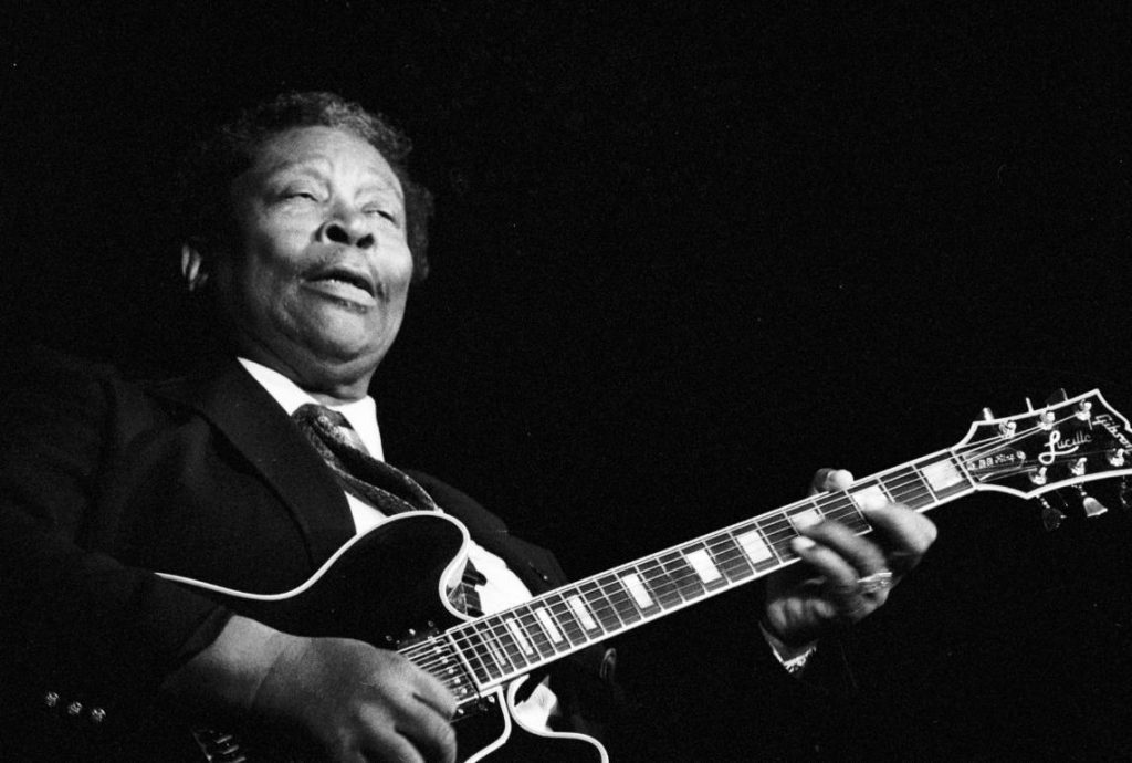 B.B. King live in Frankrijk, 1989 (CC BY 2.5 - Roland Godefroy - wiki)