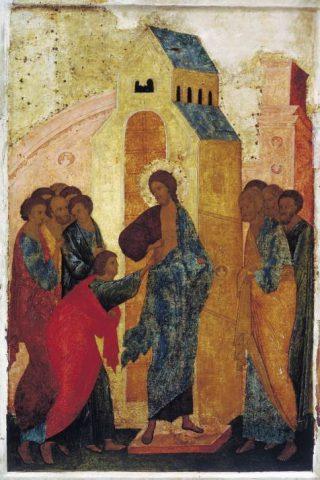 Russische icoon van Sint-Tomas, 15e eeuw (Publiek Domein - wiki)