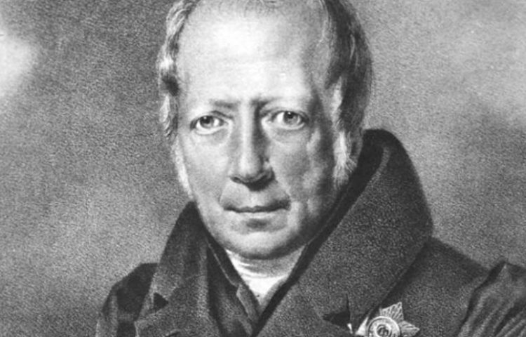 Wilhelm von Humboldt - Lithografie van Franz Krüger (Publiek Domein - wiki)