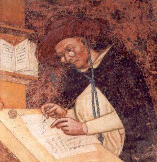 De dominicaanse broeder Ugo di Saint-Cher,  1352 (Publiek Domein - wiki)