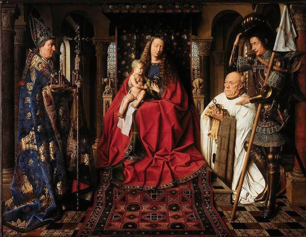 De Madonna met kanunnik Joris van der Paele, een schilderij van Jan van Eyck, 1436 (Publiek Domein - wiki)
