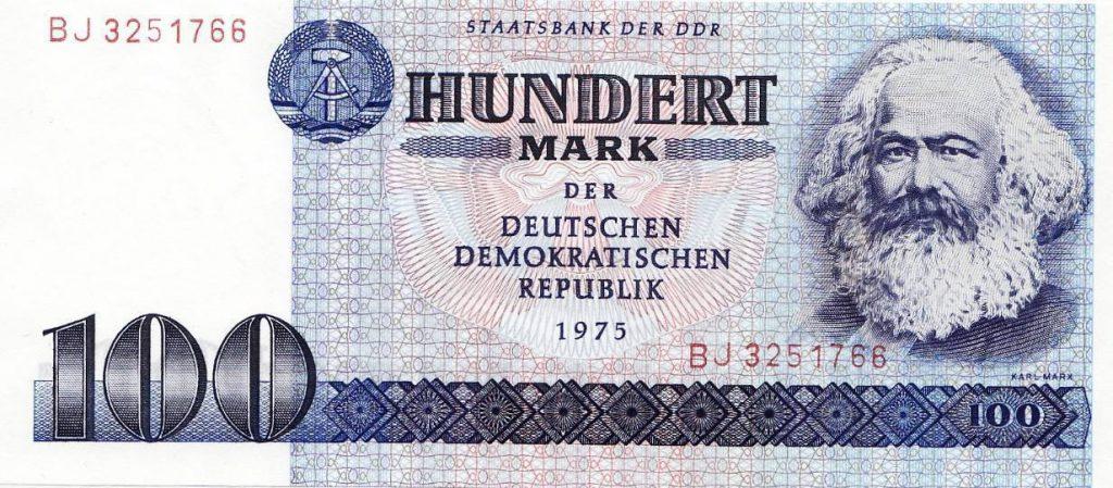Oost-Duits bankbiljet van 100 Mark (Publiek Domein - wiki)
