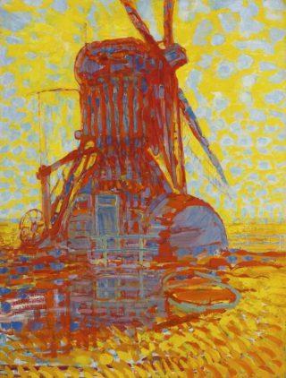 Molen bij zonlicht - Piet Mondriaan, 1908 - Gemeentemuseum Den Haag (Publiek Domein - wiki)