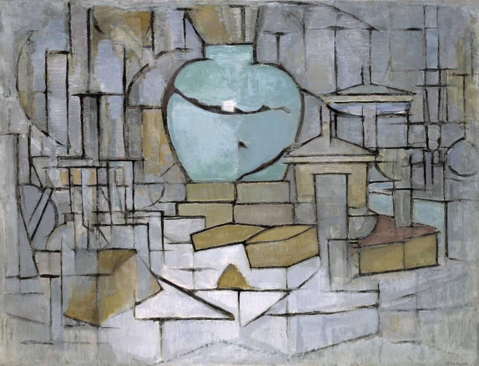 Stilleven met gemberpot II. - Piet Mondriaan, 1912 -  Solomon R. Guggenheim Museum (Publiek Domein - wiki)