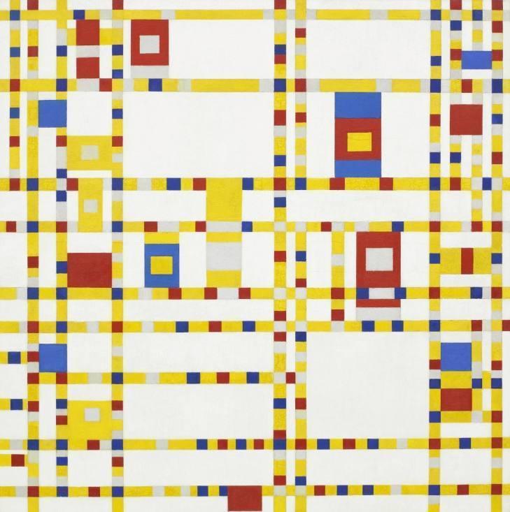 Broadway-Boogie-Woogie - Piet Mondriaan, 1942 (Publiek Domein - wiki)