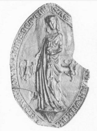 Ogiefzegel gravin Aleid van Henegouwen (1268), CSN 530.