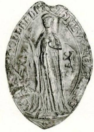 Ogiefzegel gravin Beatrijs van Dampierre (1291), CSN 535.