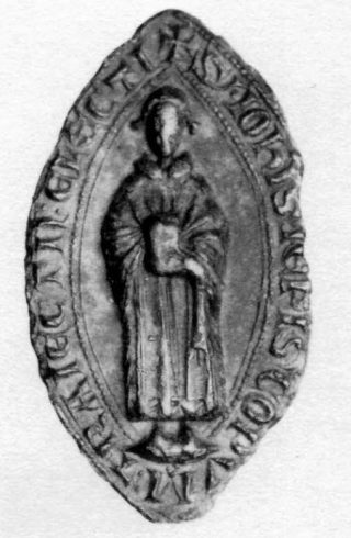 Zegel van elect-bisschop Jan van Nassau (1271), CSN 27.
