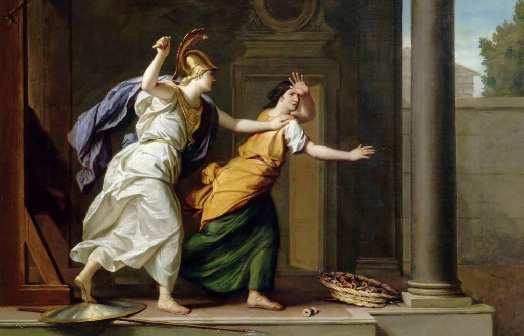 Athena en Arachne - René-Antoine Houasse (Publiek Domein - wiki)