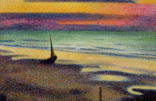Heist-aan-Zee - Detail van een schilderij van Georges Lemmen (Publiek Domein - wiki)