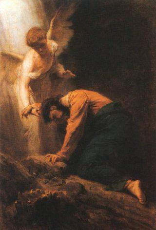 Jezus in gebed - Gyula Benczúr, 1919 (Publiek Domein - wiki)