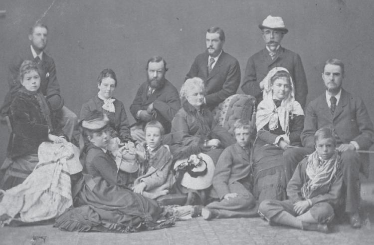 De familie Roosevelt en gezelschap op hun reis langs de Nijl tijdens de winter van 1872-1873. Bron: De Roosevelts