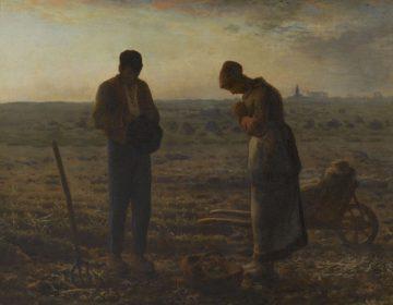 Jean-François Millet (1814-1875), Het angelus, 1857-1859, olieverf op doek, 55,5 × 66 cm, Musée d'Orsay, Parijs, legaat van Alfred Chauchard, 1910 (via Van Gogh Museum)