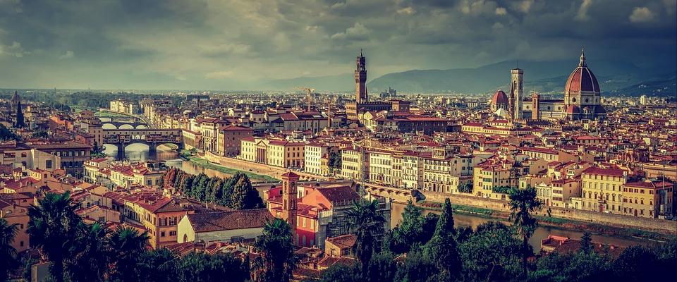 Blik op het moderne Florence