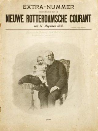 Bijlage NRC 1898, met baby Wilhelmina en haar vader op de omslag