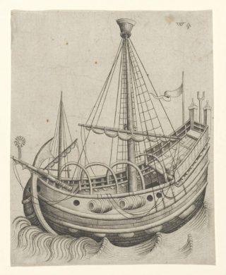 Een haringbuis - Meester W met de Sleutel, ca. 1490 (Rijksmuseum)